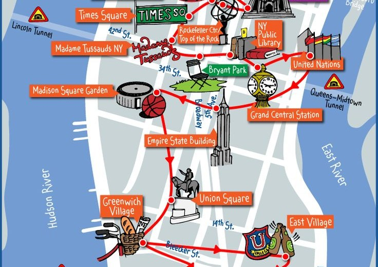 New York City Map Of Attractions.Download Fantastic New York City Travel Maps From Nycmap360
