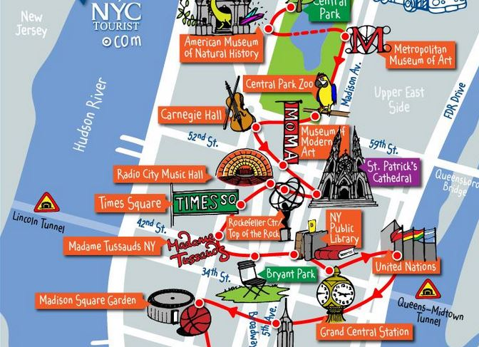 Download fantastic New York City travel maps from nycMap360 – New York City Tourist Attractions Map